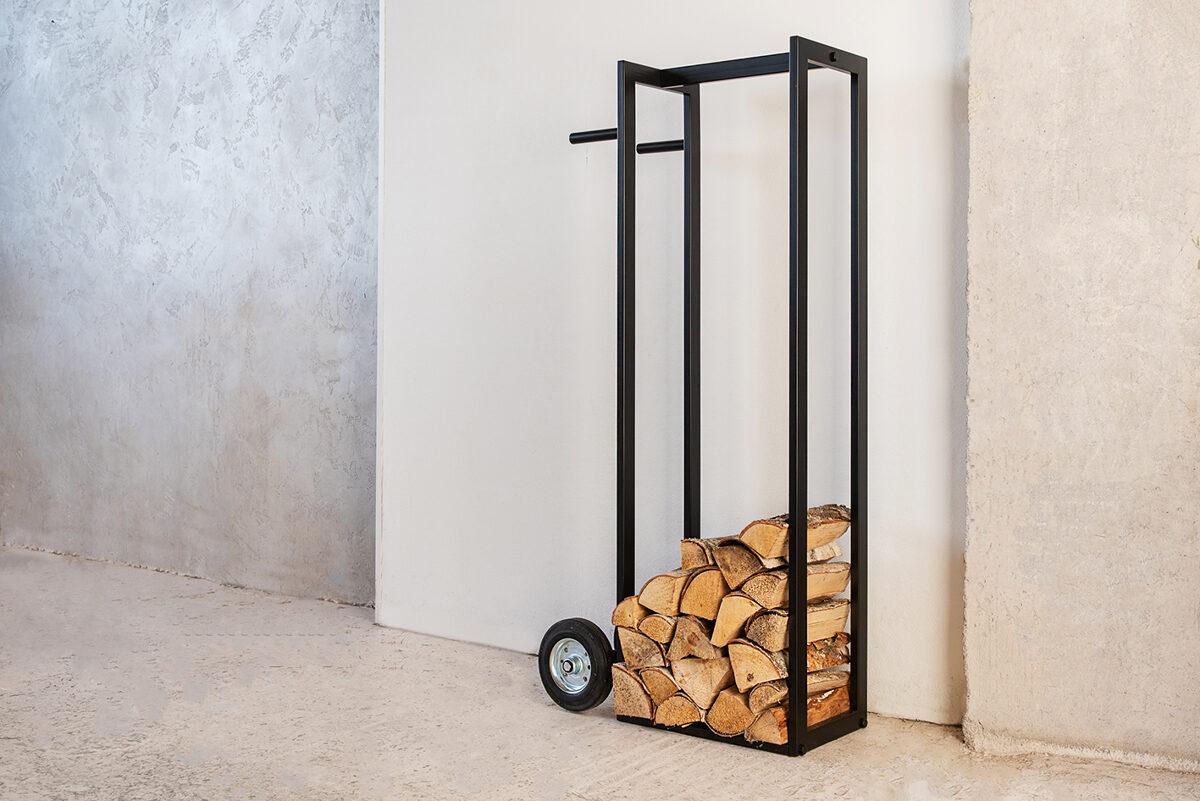 Metāla malkas kaste/ratiņi